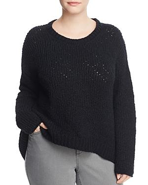 Eileen Fisher Plus Drop Shoulder Cotton Sweater