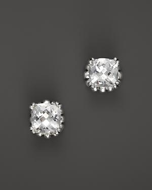 Lagos Sterling Silver Prism White Topaz Stud Earrings