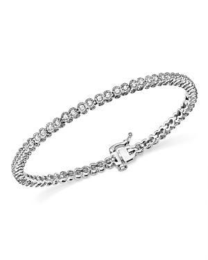 Diamond Bezel Set Tennis Bracelet In 14k White Gold, 1.0 Ct. T.w. - 100% Exclusive
