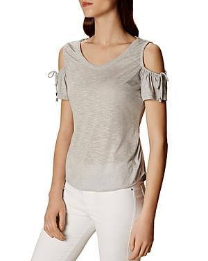 Karen Millen Drawstring Cold-shoulder Top