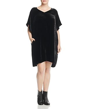 Eileen Fisher Plus Velvet Kimono Sleeve Dress