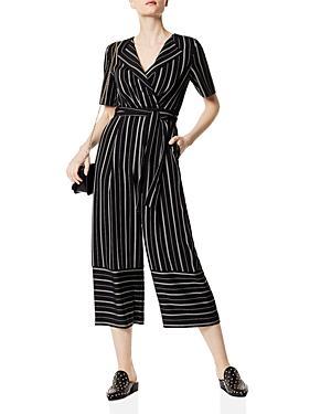 Karen Millen Striped Cropped Wide-leg Jumpsuit