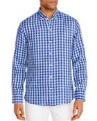 Zachary Prell Bonner Linen Check Regular Fit Button Down Shirt