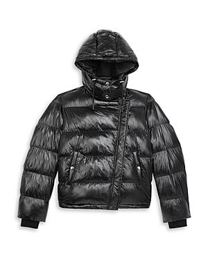 The Kooples Cropped Hooded Puffer Coat