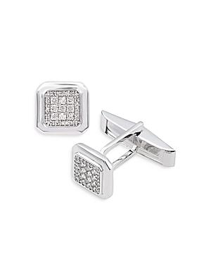 Bloomingdales Diamond Pave Cufflinks In 14k White Gold - 100% Exclusive