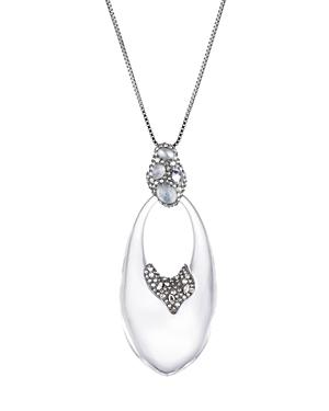 Alexis Bittar Crystal Cluster Drop Pendant Necklace, 32