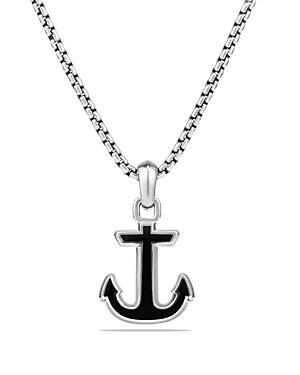 David Yurman Maritime Anchor Amulet With Black Onyx