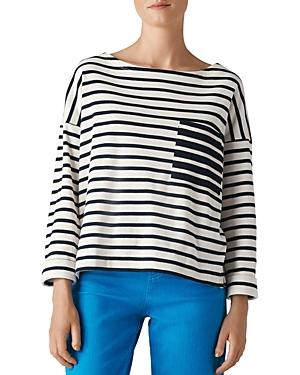 Whistles Striped Box Top