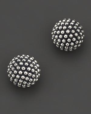 Lagos Sterling Silver Beaded Earrings, 10mm