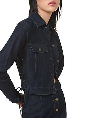 Michael Michael Kors Lace Up Denim Jacket