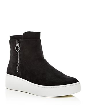 Via Spiga Women's Easton Suede Platform High Top Sneakers