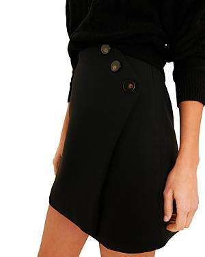 Ba & Sh Kara Button Mini Skirt