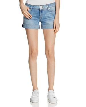 Hudson Croxley Denim Shorts In Light Wash