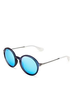 Ray-ban Round Oversized Mirror Sunglasses