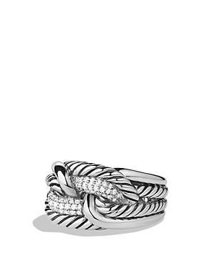 David Yurman Labyrinth Ring With Diamonds