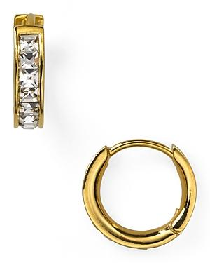 Nadri Tiny Channel Set Hoop Earrings