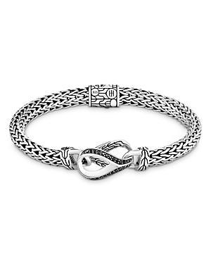 John Hardy Asli Classic Chain Black Sapphire & Black Spinel Small Sculptural Bracelet