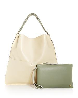 Callista Iconic Two-tone Leather Slim Tote