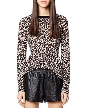 Zadig & Voltaire Miss Cp Leopard-printed Cashmere Sweater