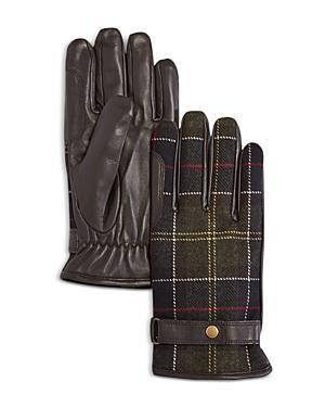 Barbour Newbrough Tartan Wool & Leather Gloves