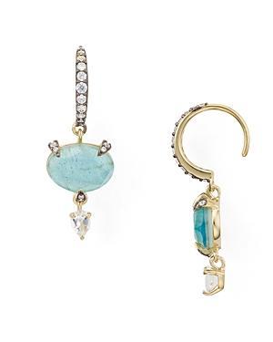 Nadri Agean Oval Drop Earrings In 18k Gold-plated Sterling Silver