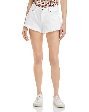 Pistola Gigi Cut Off Denim Shorts In White