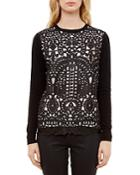 Ted Baker Lace-front Sweater