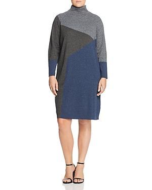 Nic+zoe Plus Color Block Sweater Dress