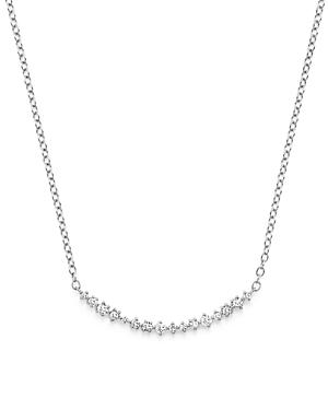 Diamond Scatter Bar Necklace In 14k White Gold, .30 Ct. T.w.