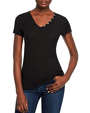 Michelle By Comune Edmonds Button Detail Tee