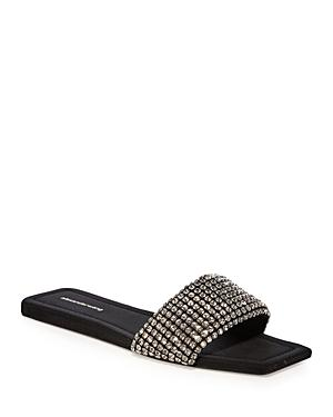 Alexander Wang Women's Anya Embellished Slip On Leather Sandals