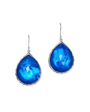 Ippolita Sterling Silver Rock Candy Wonderland Teardrop Earrings In Ultramarine