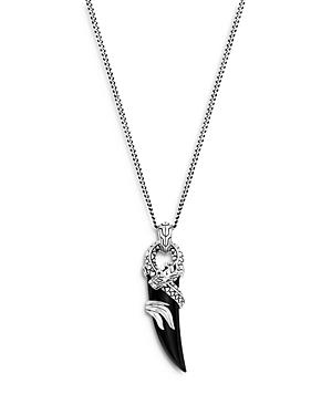 John Hardy Sterling Silver Legends Naga Pendant Necklace With Black Onyx & Blue Sapphire, 22