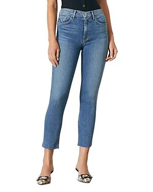 Grlfrnd Reed Cropped Skinny Jeans In Come Over