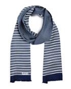 Armani Collezioni Circle And Stripe Scarf