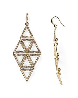 Abs By Allen Schwartz Pyramid Chandelier Earrings
