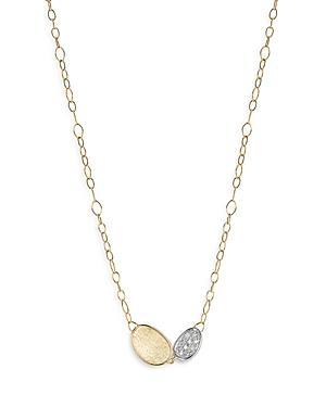 Marco Bicego 18k Yellow & White Gold Lunaria Diamond Station Necklace, 16.5