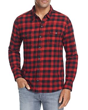 Paige Hunter Buffalo Check Flannel Regular Fit Button Down Shirt