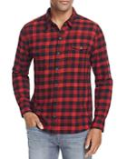 Paige Hunter Buffalo Check Flannel Regular Fit Button Down Shirt