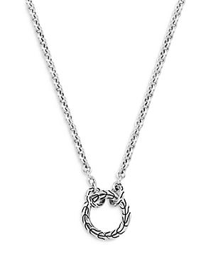John Hardy Sterling Silver Classic Chain Amulet Connector Chain Necklace, 18