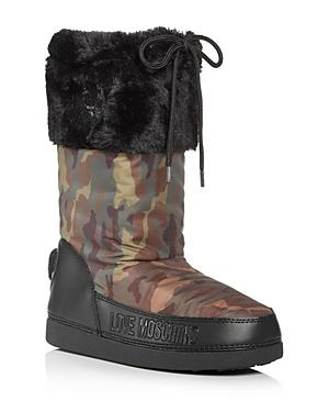 Love Moschino Women's Faux-fur Moon Boots
