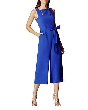 Karen Millen Belted Culotte Jumpsuit