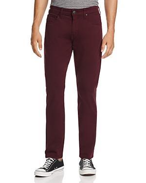 Paige Federal Slim Fit Jeans In Dark Bordeaux