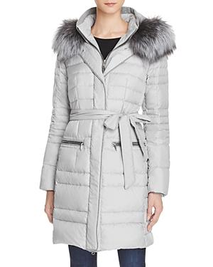 Maximilian Furs Fox Fur Trim Hooded Down Coat