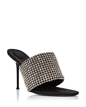Alexander Wang Women's Sienna Embellished High Heel Slide Sandals