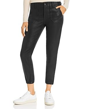 Paige Mayslie Jogger Jeans In Black Fog Luxe Coating