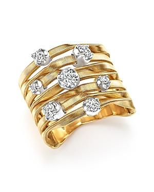 Marco Bicego 18k Yellow Gold Marrakech Couture Ring With Diamonds - Trunk Show Exclusive