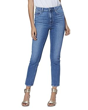 Paige Sarah Ankle Slim-leg Jeans In Trail