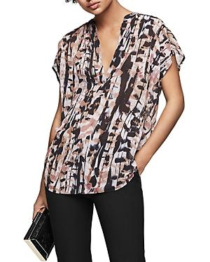 Reiss Feather Print Top