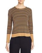 Eileen Fisher Petites Striped Crop Sweater